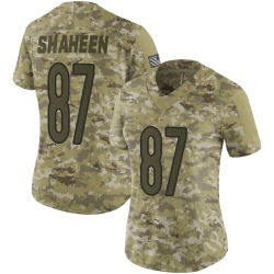 Limited Adam Shaheen Women's Chicago Bears Camo 2018 Salute to Service Jersey - Nike