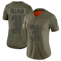 Limited Charles Tillman Women's Chicago Bears Camo 2019 Salute to Service Jersey - Nike